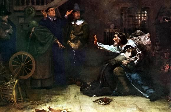 Accused Of Witchcraft By Douglas Volk 1884