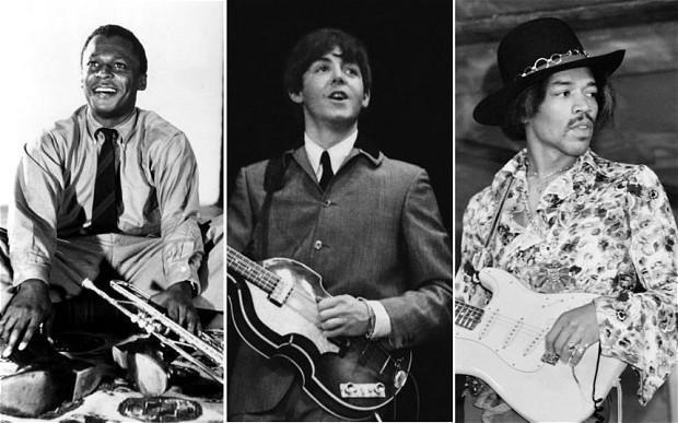 Paul McCartney, Jimi Hendrix, Miles Davis
